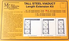 Micro Engineering 75525 HO Tall Steel Viaduct Length Extension - 60Ft