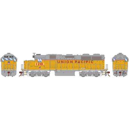 Athearn Genesis G65629 HO Scale - GP39-2 Diesel, DCC & Sound - Union Pacific #1210