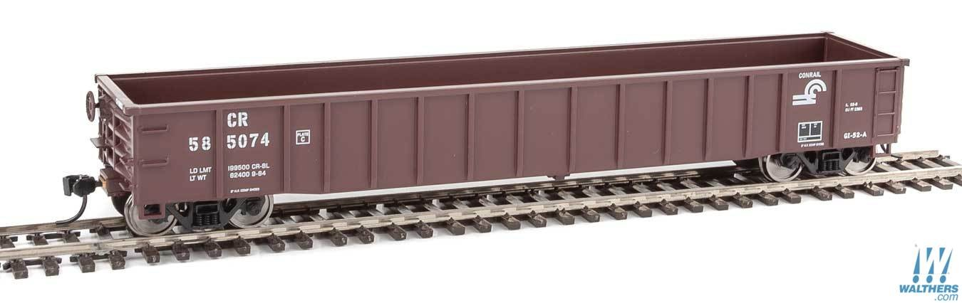 Walthers Mainline 6151 HO 53 Ft Thrall Smooth-Side Gondola - Conrail #585059