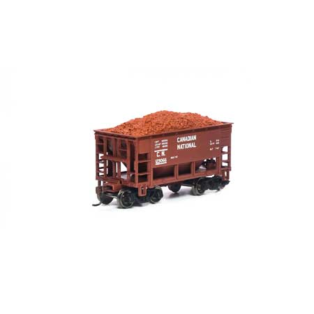 Athearn RND87154 HO - 24Ft Ribbed Ore Car w/Load - Canadian National #123069