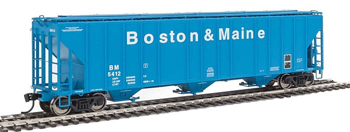 Walthers Proto 106156 - HO 55Ft Evans 4780 Covered Hopper - Boston & Maine #5412