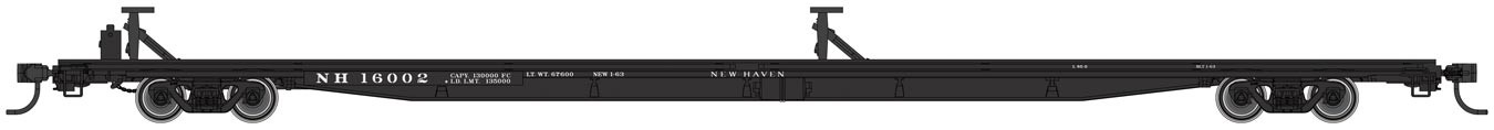 Walthers Mainline 5488 - HO RTR - 85ft General American G85 Flatcar - Trailer Train - Northern Pacific #65566