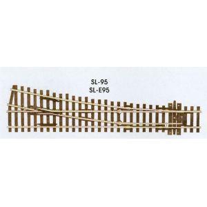 Peco Code 100 SL 95 Streamline Medium Radius Turnout Right Hand, Insulfrog HO Scale Track