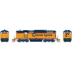 Athearn Genesis G82207 HO Scale - GP7 Diesel, DCC/ Ready - C&O/ Chessie #5841