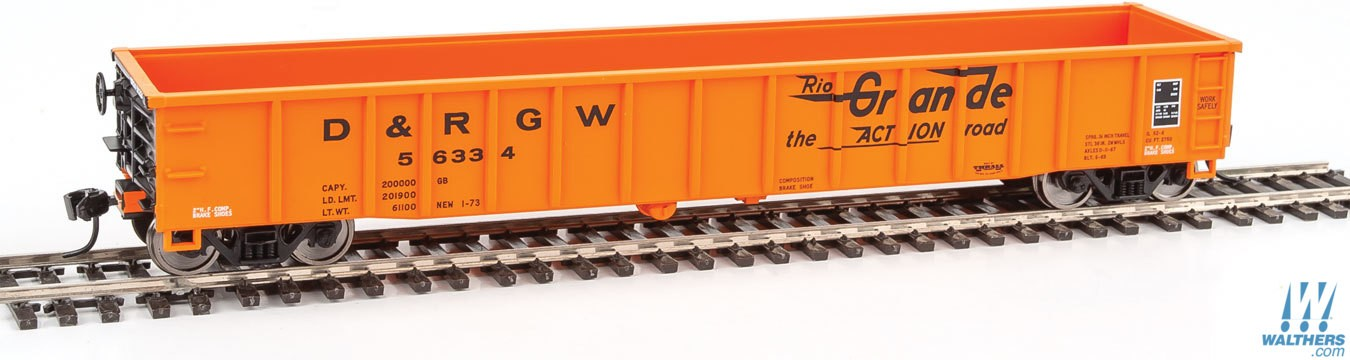 Walthers Mainline 6156 HO 53 Ft Thrall Smooth-Side Gondola - Denver & Rio Grande Western #56314