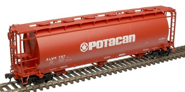 Atlas 20005770 - HO ACF 3-Bay Cylindrical Hopper - Potacan #789