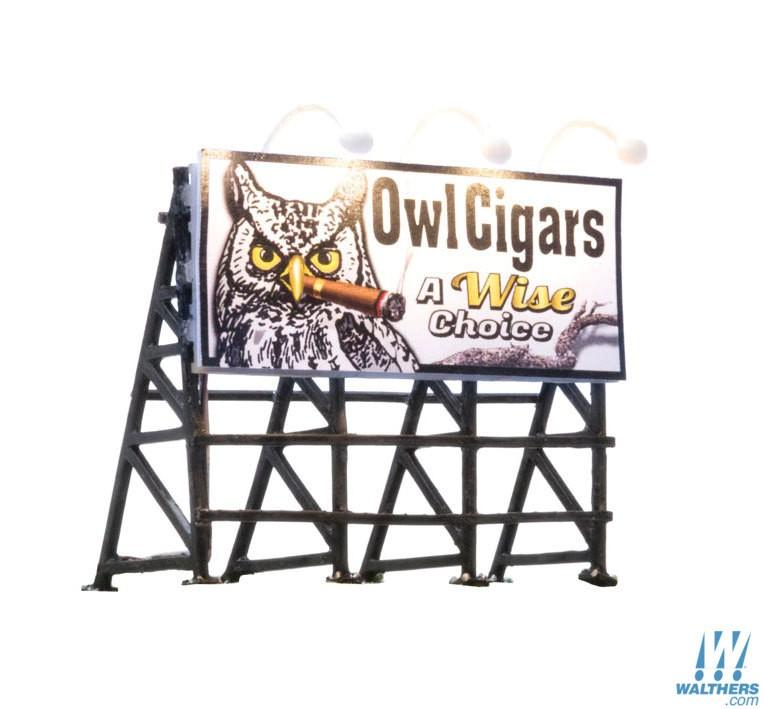 Woodland Scenics 5795 HO Billboard Wise Tobacco CO.