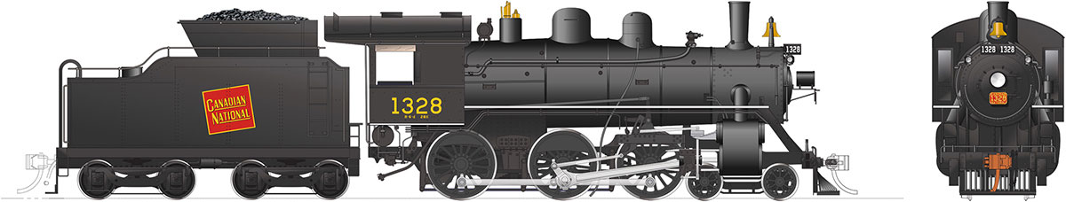 Rapido 603501 HO H-6-d Canadian National Railway #1328 DC/DCC/Sound Pre-Order coming 2020