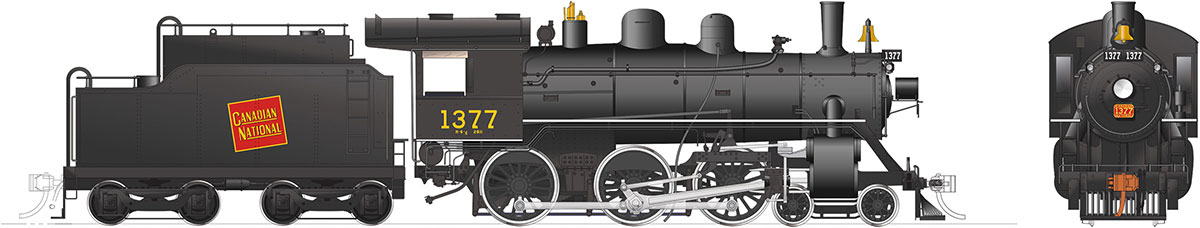 Rapido 603504 HO H-6-d Canadian National Railway #1377 DC/DCC/Sound Pre-Order coming 2020