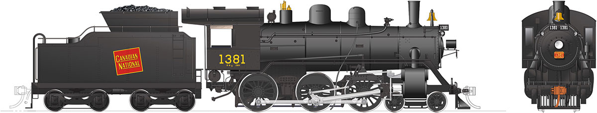 Rapido 603505 HO H-6-d Canadian National Railway #1381 DC/DCC/Sound Pre-Order coming 2020