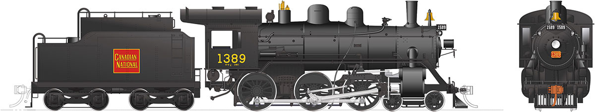 Rapido 603513 HO H-6-d Canadian National Railway #1389 DC/DCC/Sound Pre-Order coming 2020