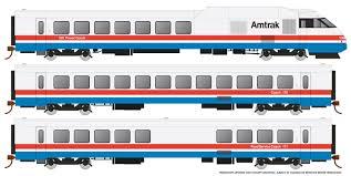 Rapido 25002 - HO Rohr Turboliner - DC/ Silent - Amtrak Phase 3 (early) - set #3