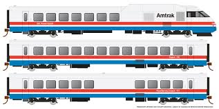Rapido 25501 - HO Rohr Turboliner - DCC/ Sound - Amtrak Phase 3 (early) - set #1