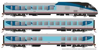 Rapido 25005 - HO Rohr Turboliner - DC/ Silent - Amtrak Phase 5 - set #5