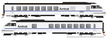 Rapido 25506 - HO Rohr Turboliner - DCC/ Sound - Amtrak X2000 Demonstrator