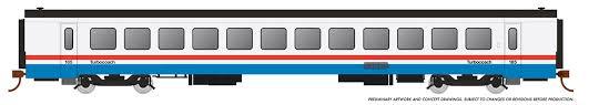 Rapido 25104 - HO Rohr Turboliner - DC/ Silent - Amtrak Phase 3 (late) - Turbocoach #185