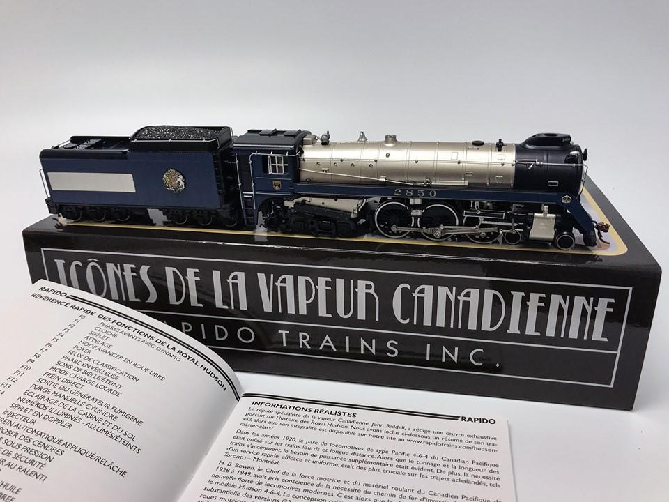 Rapido Trains 600090 HO Scale Canadian Pacific Royal Hudson CPR #2850 H1d -1939 Royal Train - DC Silent   2017