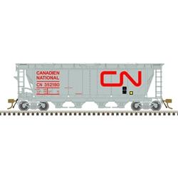 Atlas 20006363 HO Scale - Slab Side Covered Hopper - Canadian National (Noodle- 6 Hatch) #352180