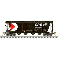 Atlas 20006367 HO Scale - Slab Side Covered Hopper - Canadian Pacific (6 Hatch) #380606