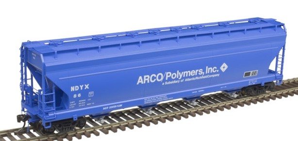 Atlas 20006381 - HO ACF 5250 Covered Hopper - ARCO Polymers (NDYX) #92