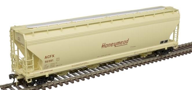 Atlas 20006383 - HO ACF 5250 Covered Hopper - Honeymead (ACFX) #56974
