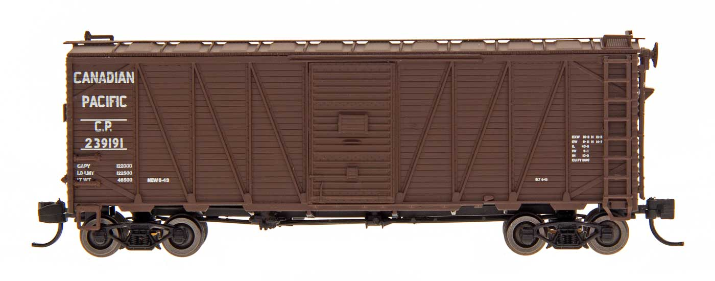 Intermountain 66075-02 - N 40ft WWII Emergency Boxcar - Canadian Pacific 239039