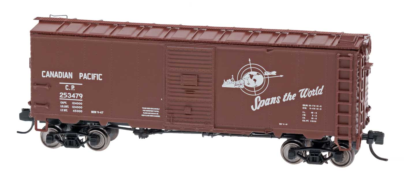 Intermountain Railway 66802-31 N Scale Modified AAR 40 Ft Boxcar w/4-4 Improved Drednaught End  - Canadian Pacific 253706