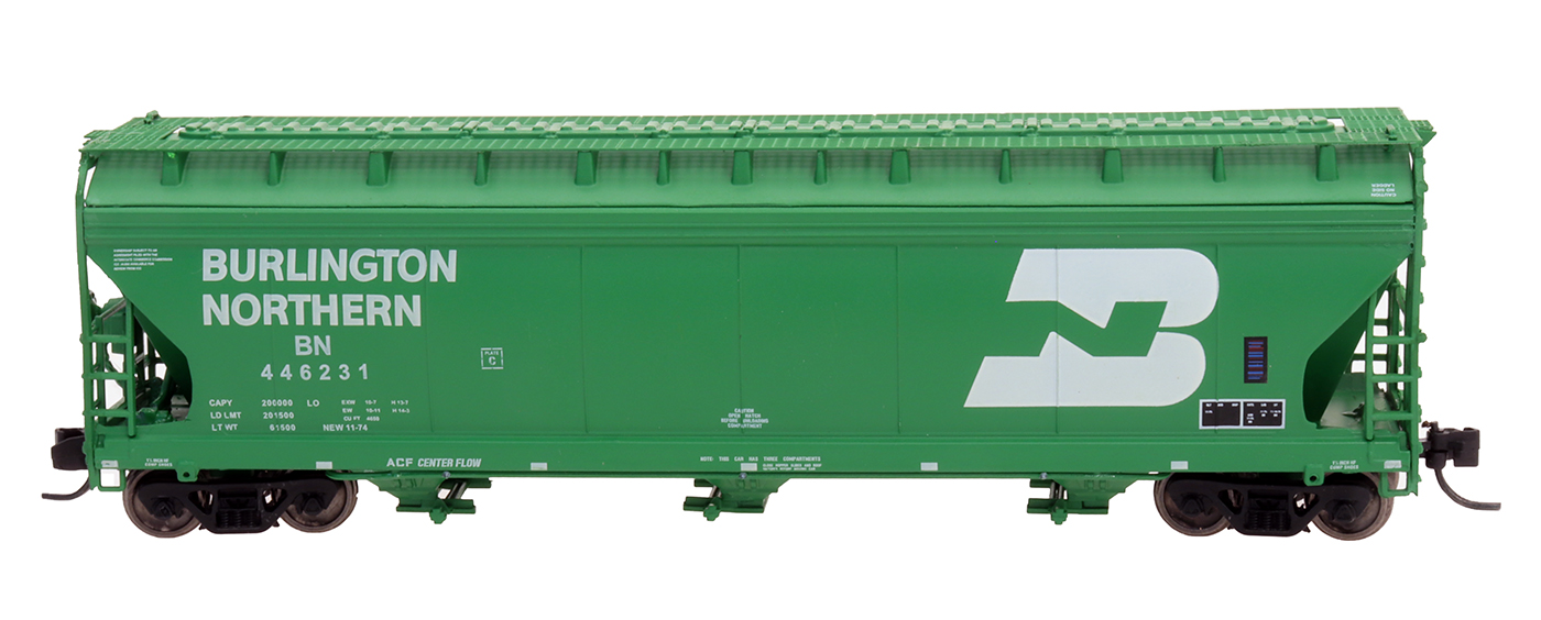 Intermountain 67001-58 - N ACF 4650 Cubic Ft. 3-Bay Hoppers - Burlington Northern #446231