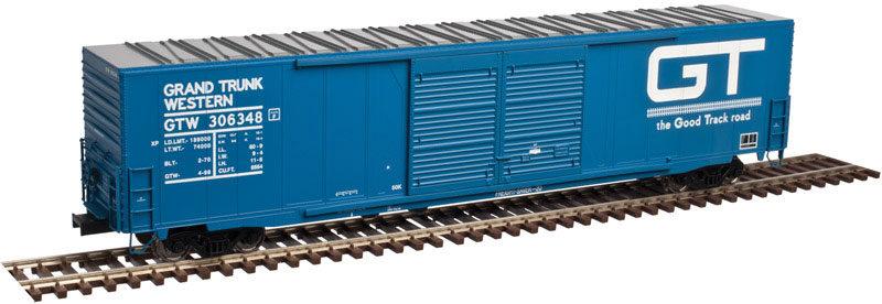 Atlas 20 004 189 HO ACF 60 Ft Double-Door Auto Parts Boxcar - Ready to Run - Master - Grand Trunk Western GT #306383