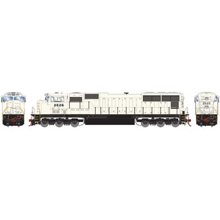 Athearn 70616 HO SD70 DCC & Sound Norfolk Southern/Flare Grey Ghost #2627