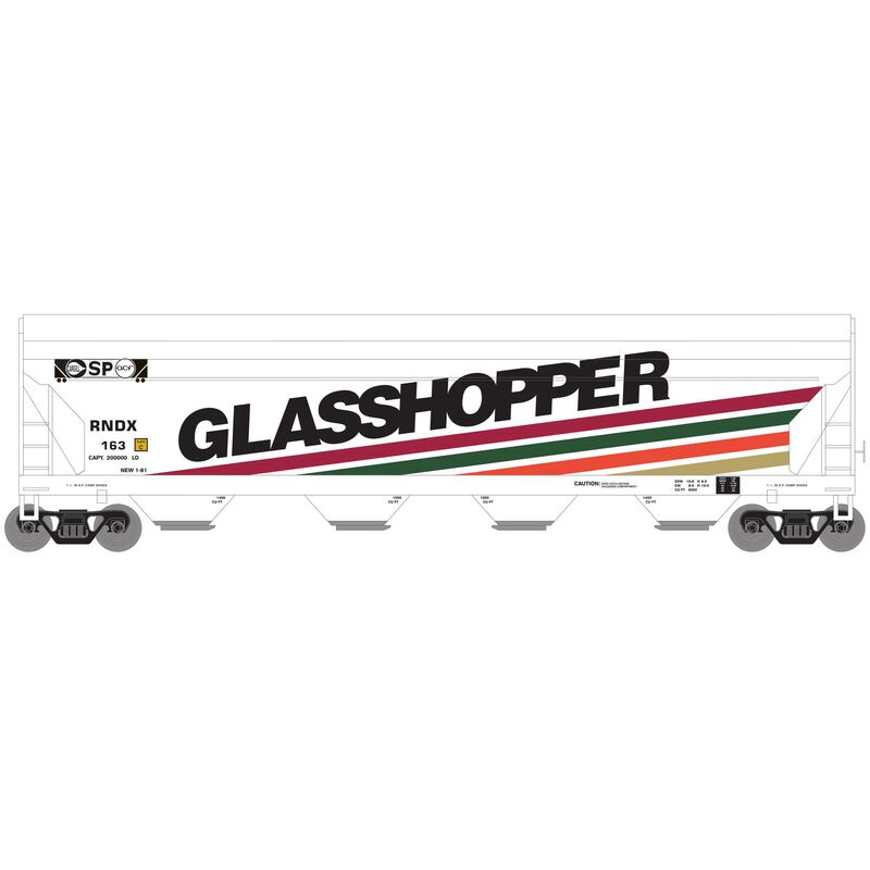 Athearn Roundhouse 7202 HO - ACF 5250 CF Hopper - Glasshopper (RNDX) #163