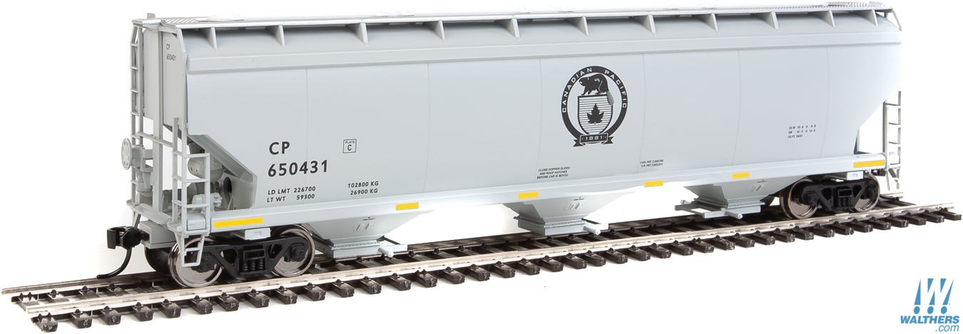 Walthers Mainline 7640 HO RTR - 60 ft NSC 5150 3-bay Covered Hopper - Canadian Pacific #650491