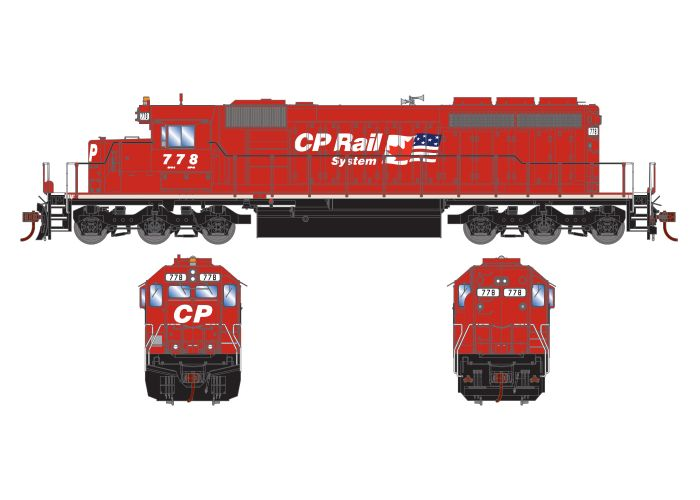Athearn RTR 72113 HO Scale - SD40-2 - w/DCC & Sound - Canadian Pacific #784