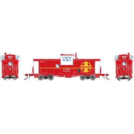 Athearn G78525 - HO Scale ICC Caboose w/lights DCC Ready - ATSF CE-11 #999801