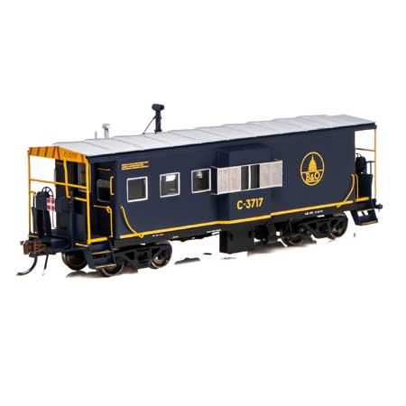 Athearn G78328 - HO Scale ICC Caboose w/lights and DCC/Sound - B&O #C-3799