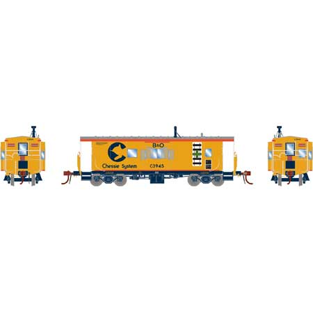 Athearn G78333 - HO Scale ICC Caboose w/lights and DCC/Sound - B&O/ Chessie #C-3984