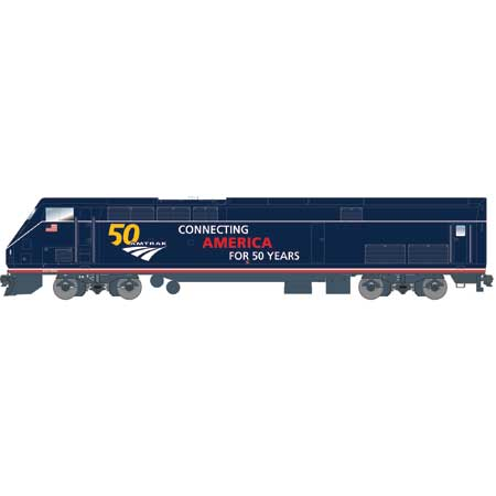 Athearn G81114 - HO Scale AMD103/P42 - DCC Ready - Amtrak (50th Anniversary Blue) #100