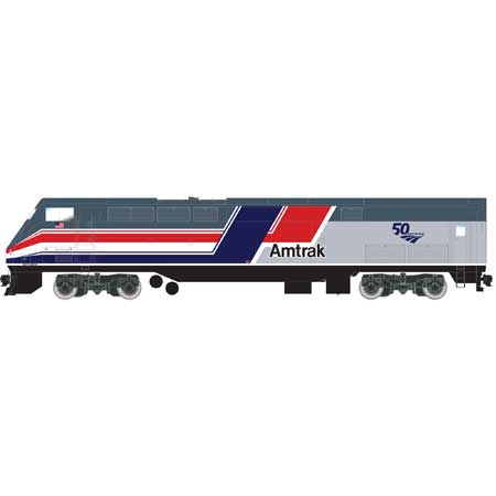 Athearn G81316 - HO Scale AMD103/P42 - DCC & Sound - Amtrak (50th Anniversary, Dash 8 Phase 3) #160