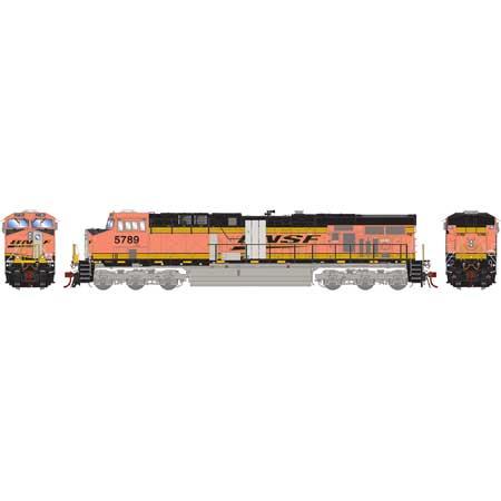 Athearn G83178 - HO Scale ES44AC DC/DCC/Sound Diesel - BNSF w/ PTC Primer #5789