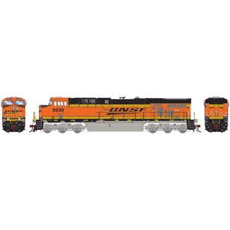Athearn G83181 - HO Scale ES44AC DC/DCC/Sound Ready Diesel - BNSF w/ PTC #5939