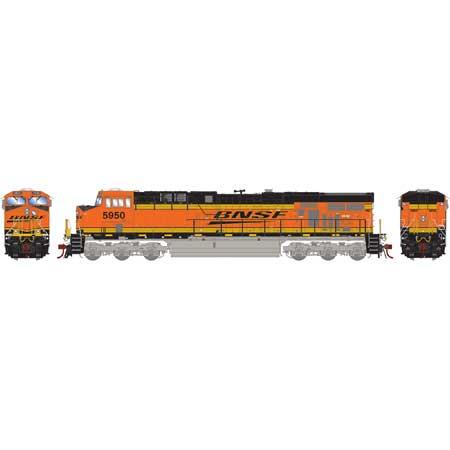 Athearn G83082 - HO Scale ES44AC DCC Ready Diesel - BNSF w/ PTC #5950