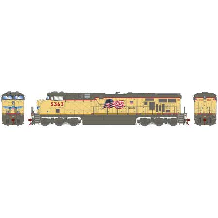 Athearn G83084 - HO Scale ES44AC DCC Ready Diesel - UP Faded #5363