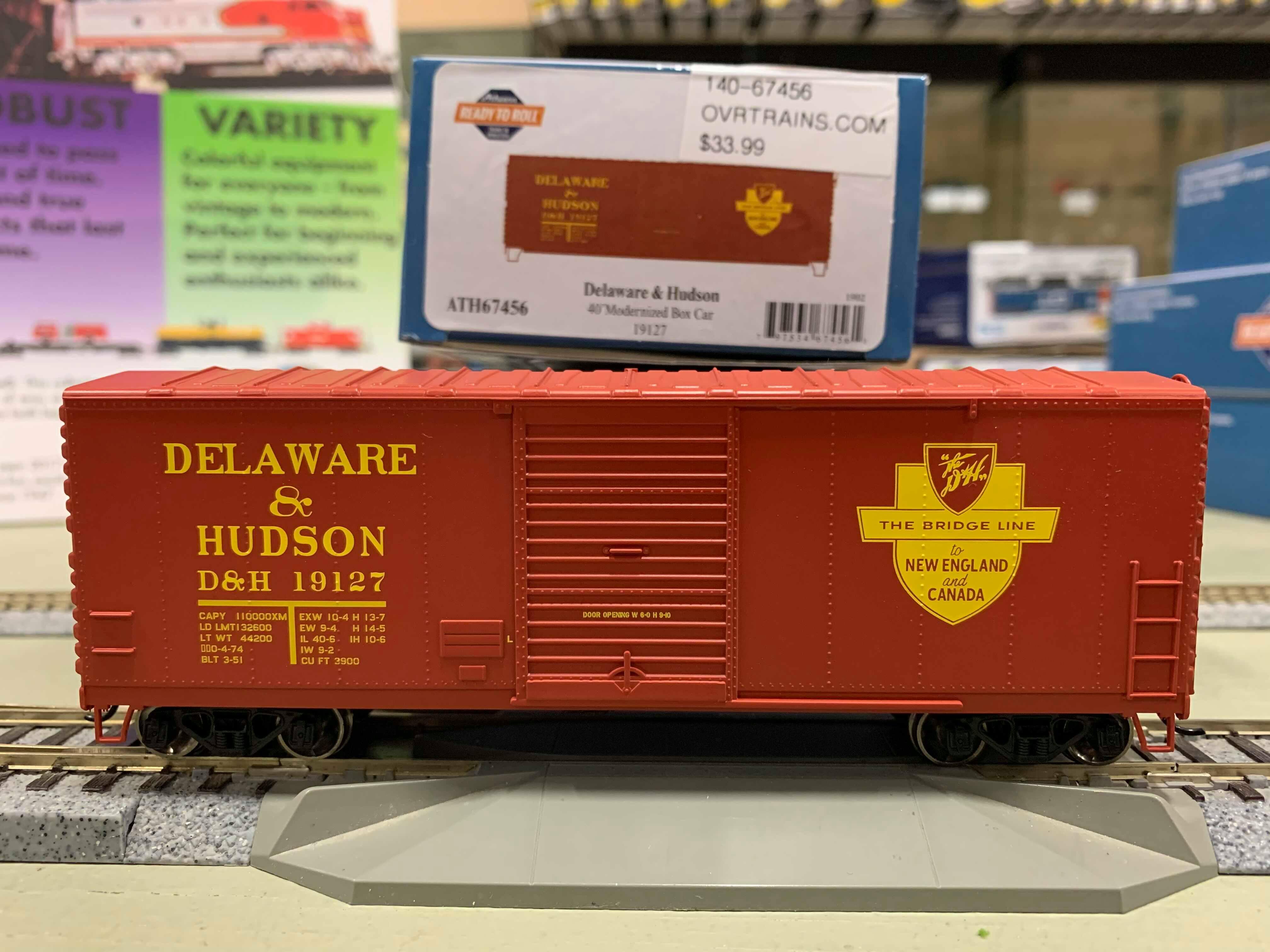 Athearn RTR 67454 HO - 40 Ft Modernized Box - D&H #18799