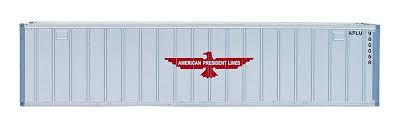 Intermountain Railway HO  40Ft Rib Side Container (2 Pack) American Presidents Line No. 962542  962307