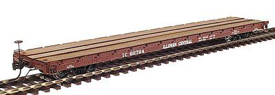 Intermountain 46410-27 HO 60ft Wood Deck Flat Car - Illinois Central #62744