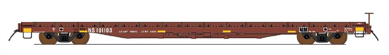 Intermountain 46419-01 HO 60ft Wood Deck Flat Car - Norfolk Southern (Ex-Southern) #101103