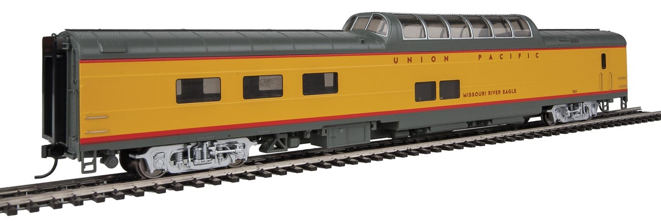 Walthers Proto 18655 - HO 85ft ACF Dome Diner Coach w/lights - Union Pacific (Missouri River Eagle) #7011