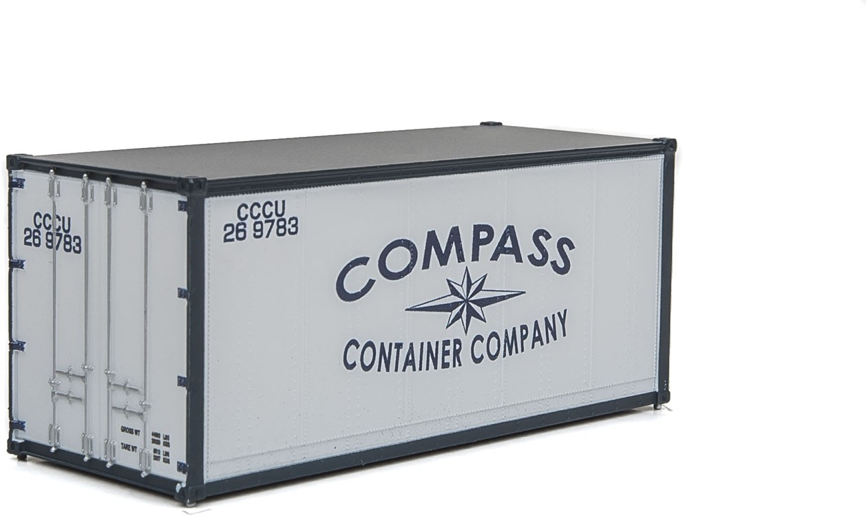 Walthers SceneMaster 8664 HO - 20ft Smooth-Side Container - Compass Container Company