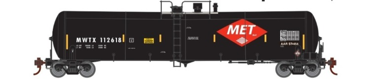 Athearn 29880 HO Scale - RTR 30,000 Gallon Ethanol Tank Car - MWTX (3 pack) Set 3