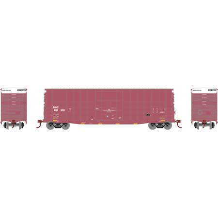 Athearn RND88078 HO Scale 50Ft Waffle HC Plug Door Box Canadian National CN DWC #409500